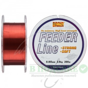 Леска Brain Feeder 300 m 0,185 mm #1.2, 2.9 kg, 6.4 lb, ц.: copper