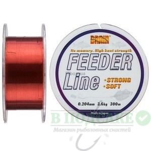 Леска Brain Feeder 300 m 0,243 mm #2.25, 5.0 kg, 11.0 lb, ц.: copper